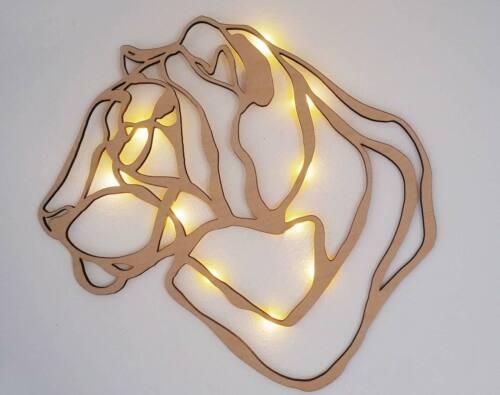 NEU Wandbild Holz Wand Deko Tiger 3D Wandschmuck Dekoration Geschenk Idee