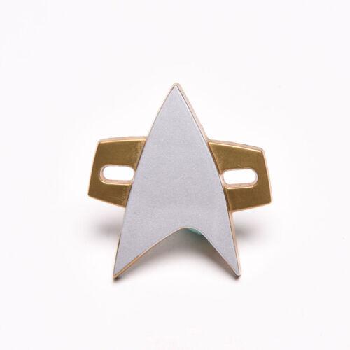 Star Trek Cosplay Starfleet Captain Badge Combadge Pin A Christmas Gift