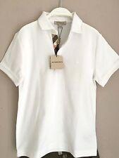 BURBERRY Boys Jungen Piquee Polo Shirt weiß Nova Check 10 Y 138 cm NEU NP 69,00