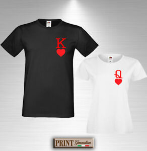 5a7c659cc T-shirt RE and Queen of HEARTS T-shirt COUPLE Valentine s Day ...