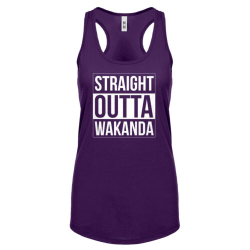 Womens Straight Outta Wakanda Racerback Tank Top #3086