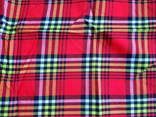 Picnic Wrap copriletto tabella//Copriletto Check Rosso Giallo Nero Masai//Masai shuka