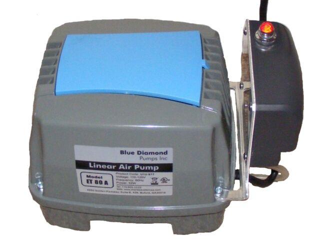 Blue Diamond Envir-o® ET80A Linear Air Pump with Alarm for Pond / Septic System