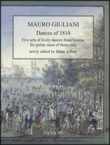 Bien Mauro Giuliani Danses De 1810 Guitare Classique Partitions Livre Surtout Facile-afficher Le Titre D'origine
