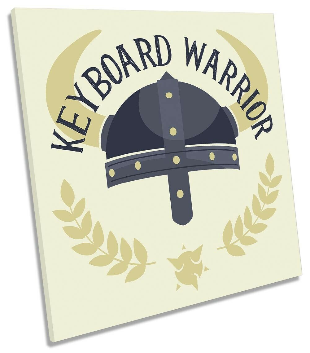 Keyboard Warrior Picture CANVAS WALL ART Square Print Print Print e9a179