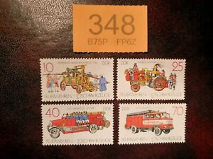 Germany-DDR-1987-Fire-Engines-stamps-MNH
