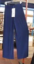 Joseph Ribkoff UK 10 Stuning Stetch Elastic Jersey Dec Buckle Navy Blue Trousers