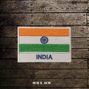 INDIA-Flag-With-Name-Embroidered-Iron-On-Sew-On-Patch-Badge-For-Clothes-Etc