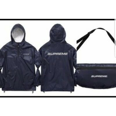 Supreme F/W '17 3M Packable Ripstop Pullover Black size Large