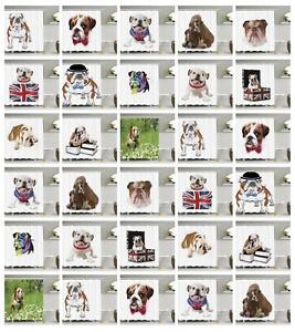 Image Is Loading English Bulldog Shower Curtain Fabric Bathroom Decor Set