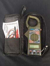 Cen Tech Dt 266 Digital Clamp Meter Multimeter With Test Leads Amp Case