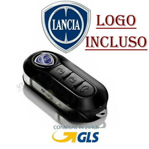 Chiave-Cover-Telecomando-Guscio-tasti-LANCIA-Y-YPSILON-IL-LOGO-E-INCLUSO