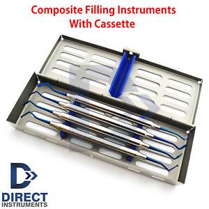 Dental-Composite-Plastic-Filling-Instruments-Titanium-Blue-Coded-Tips-Cassette