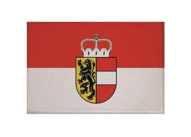 Aufnäher Salzburg Fahne Flagge Aufbügler Patch 9 x 6 cm