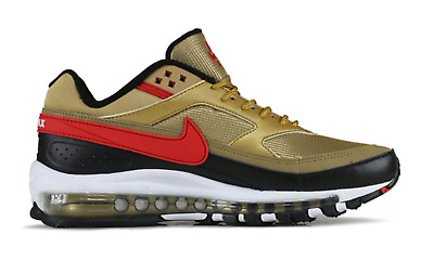 NIKE AIR MAX 97 BW METALLIC GOLD UNIV.RED SCARPE UOMO SNEAKERS 42,5 44 44,5 45 | eBay