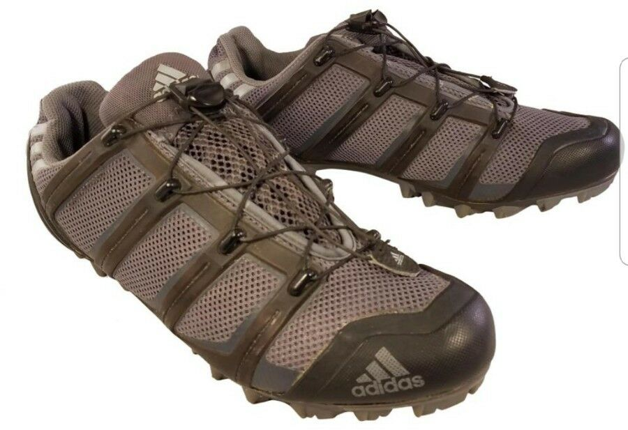 ADIDAS Mujer Zapatos De Ciclismo Malla gris con 2 pernos tacos tamaño nos 9  2