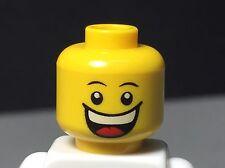 NEW LEGO Minifig Head Dual Print Grin/Sad with Tear - Happy/Sad Minifigure Head