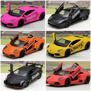 PERSONALISED-NAME-Gift-Lamborghini-Boys-Toy-Car-Diecast-Present-6-Colours-New