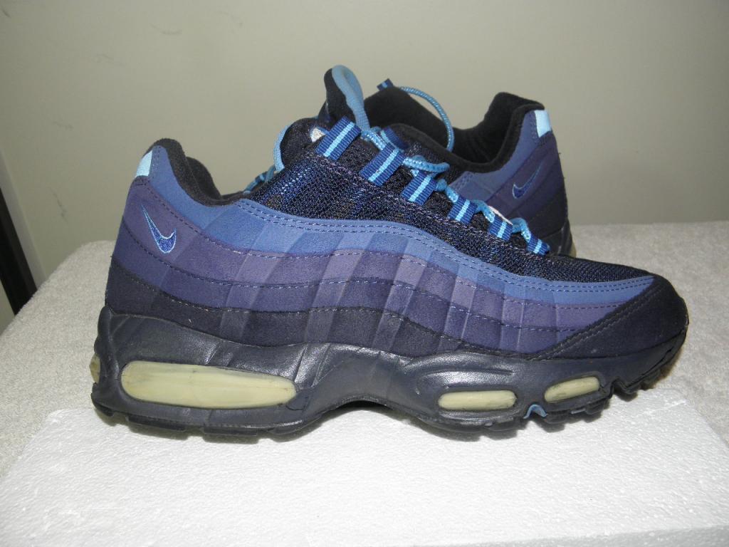 Nike Air Max 95 '95 OG ORIGINAL big bubble s 11 VNDS 90s obsidian navy  Bleu  RARE