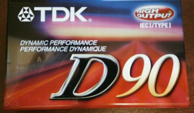 TDK D90 High Output Blank Audio Cassette Tape New Sealed