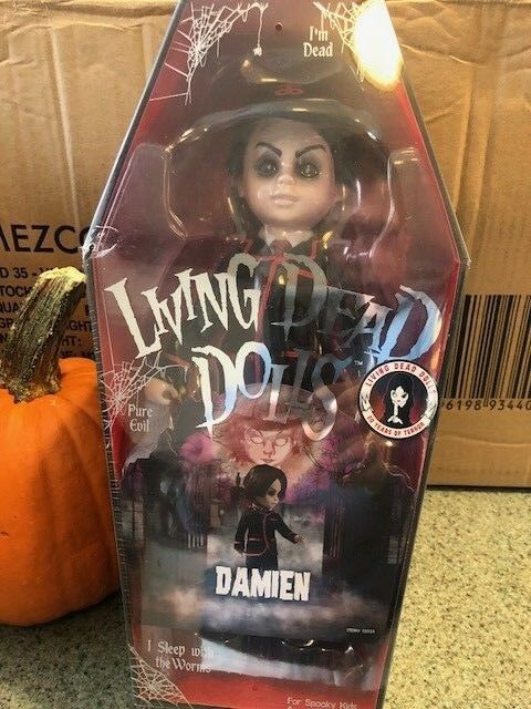 LIVING LIVING LIVING DEAD Dolls mystery doll DAMIEN 20th Anniversary Series UNVEILED on hand  369bdf