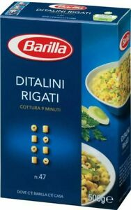 Pasta Barilla Ditalini Rigati N.47 500g Pasta Made In Italy Spedizione Corriere