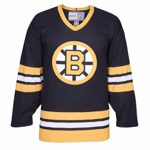 039418c9bce Boston Bruins NHL CCM Men s Black Alumni Throwback Premier Home Jersey
