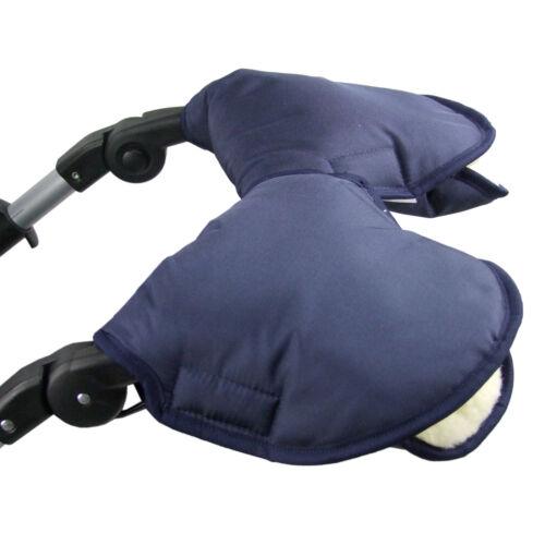 BAMBINIWELT Kinderwagen Muff 2-TEILIG Kinderwagenhandschuh Handwärmer Wolle