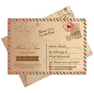 Save The Date Karten Vintage.Details Zu Save The Date Karten Als Postkarte Vintage Grunge Airmail Postcard