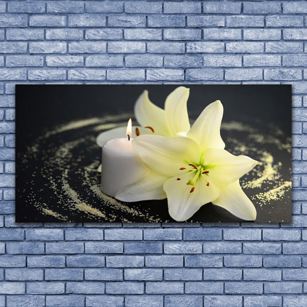 Glass print Wall art art art 140x70 Image Picture Flower Floral 55ad06