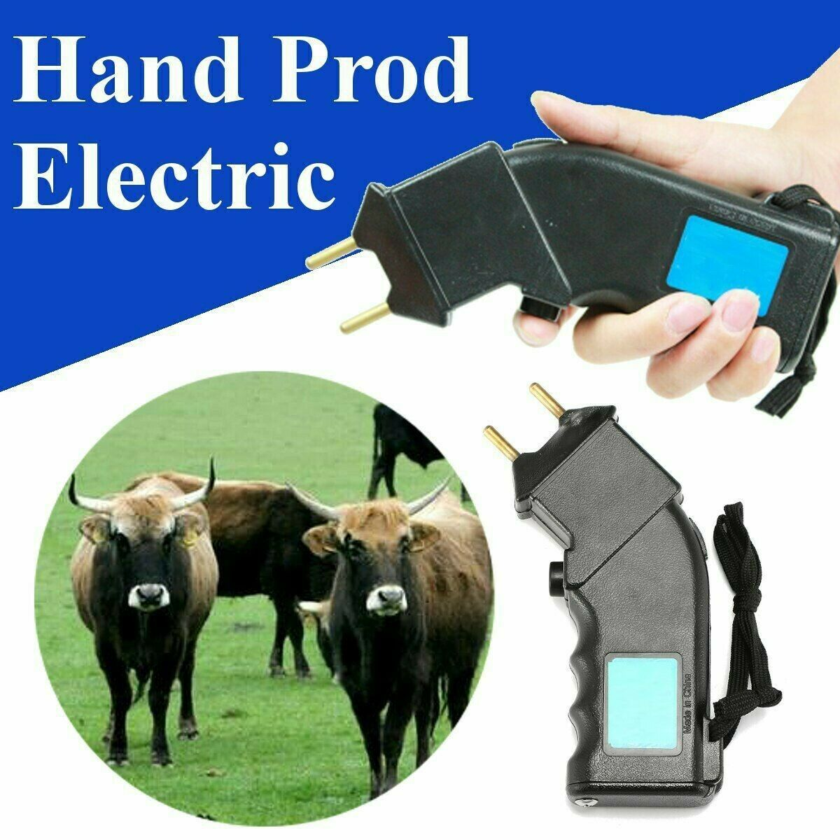 4000V/ Shock Handheld Cow Livestock Stock Tool Electric Cattle Prod Prodder