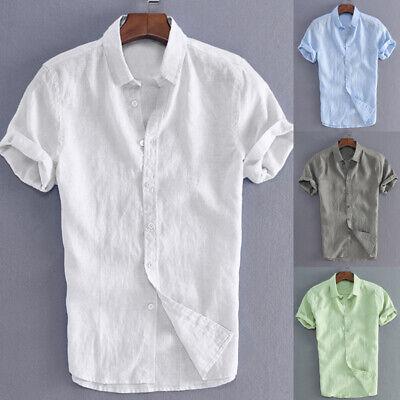 Clothing, Shoes & Accessories Vintage Mens Cotton Linen T