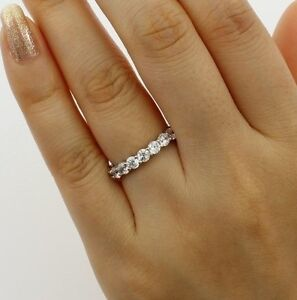 2-00-Ct-14K-Real-White-Gold-Round-Eternity-Endless-Wedding-Anniversary-Ring-Band