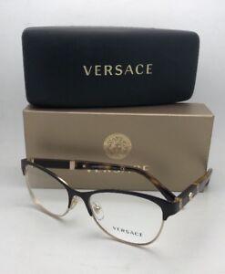 67edb7d65f7a3 New VERSACE Eyeglasses MOD.1233-Q 1344 53-17 140 Brown  amp  Gold ...