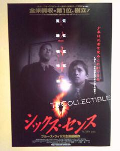 Program Ad Flyer The Sixth Sense 1999 Bruce Willis Haley Joel Osment Horror Ebay