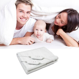 Manta electrica doble familiar 160x140cm 2 niveles de temperatura calienta camas