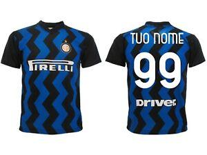 Maglia Inter 2021 personalizzata Ufficiale Divisa Ufficiale 2020 ...