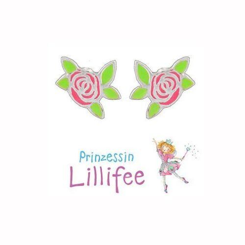Prinzessin Lillifee Blumen Ohrstecker Ohrringe Echt Silber 925 Rosen Blüten Neu