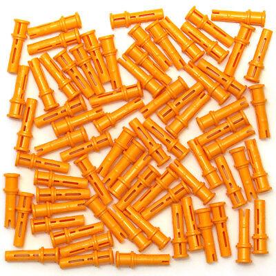 Lego Technic Bright Orange Pegs Friction Snap Cross Hole x72 32054 6143033 NEW
