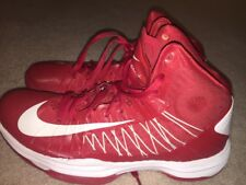 Nike Hyperdunk Lunarlon Basketball Shoes Men's Size 9.5 Red/white 2012