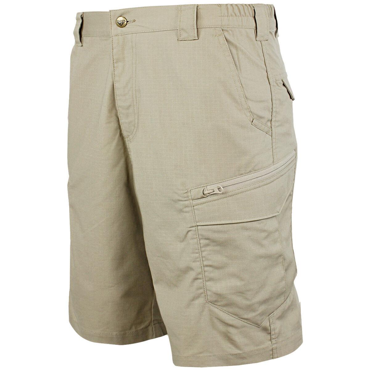 Condor Scout Mens Tactical Combat Cargo Shorts Hiking Fishing Short Pants Khaki