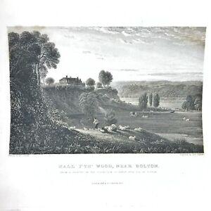 Authentic-Antique-1600-1800-s-Engraving-On-Paper-Manuscript-Artwork-Art-Old-W