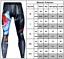 Men Geometric Compression Under Skin Leggings Base Layer Gym Pants Sport Trouser