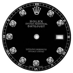 REFINED-MENS-SS-DATEJUST-BLACK-DIAMOND-DIAL-RT-FOR-ROLEX-36