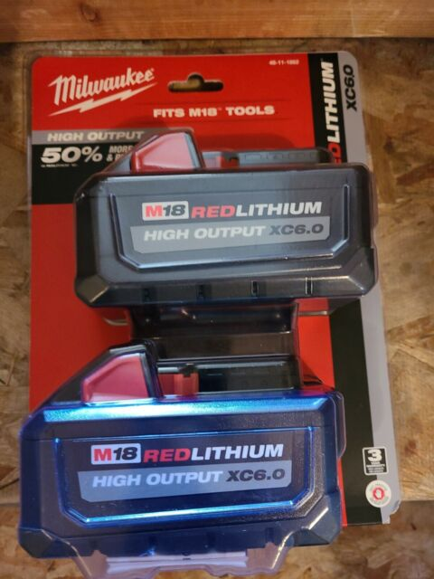 Milwaukee M18 Red Lithium High Output XC 6.0 48-11-1862 2 Pack BRAND NEW