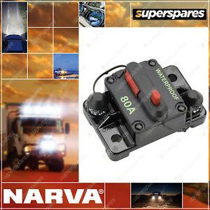 Narva 12¨C42V 80 Amp High Amp Manual Resetting Circuit Breaker Box of 1