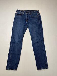 Levi-039-s-502-Regular-Tapered-Jeans-W31-L34-Bleu-Marine-Tres-bon-etat-Homme