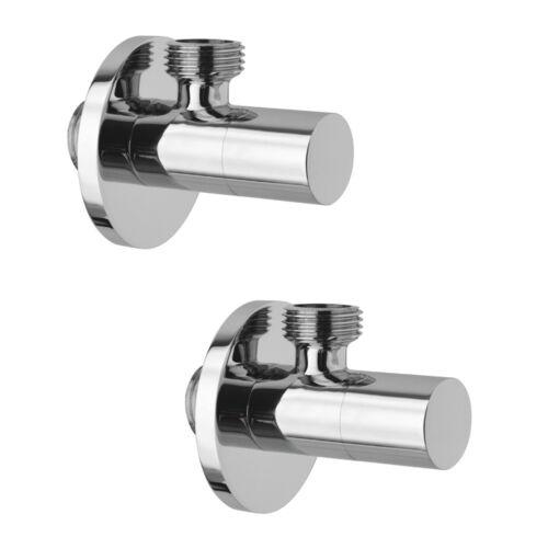 Pair taps Under Basin Round Faucet Brass Bathroom Modern Design
