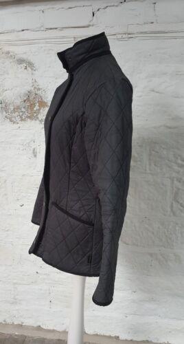 Ladies Uk tamao 8 317 chaqueta acolchada Barbour negro ligeramente dCqFxEd5w