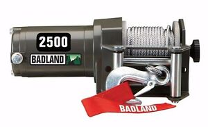 badland 2500 lb 12v electric utv atv winch w wireless. Black Bedroom Furniture Sets. Home Design Ideas